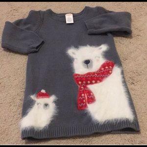 2 Gymboree Christmas Dresses & 1  sweater dress!